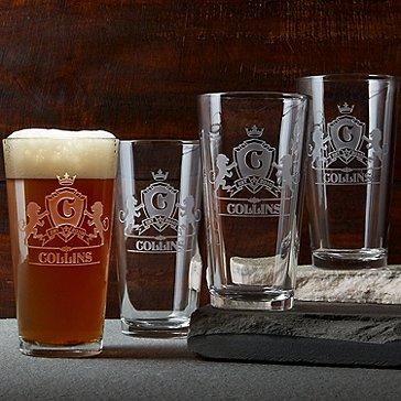 Family Crest Beer Glasses