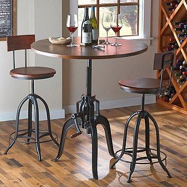 Industrial Crank Pub Table