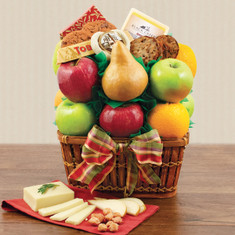 Wine Fruit Gift Baskets Harvest Bounty Fruit Gift Basket