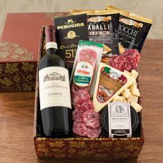 Wine Fruit Gift Baskets Buona Vita Italian Vino & Antipasto Gift
