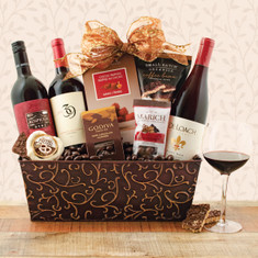 Wine Fruit Gift Baskets California red Wine TrioT