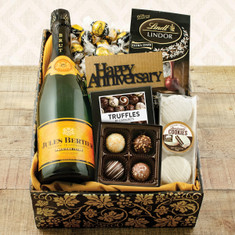 Wine Fruit Gift Baskets Champagne Truffles Anniversary