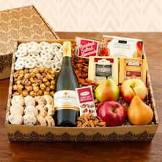 Wine Fruit Gift Basket Charming Chardonnay box