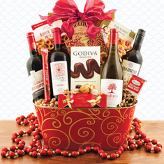 Wine Fruit Gift Baskets Christmas Wonder Wine