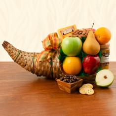 Wine Fuit Gift Baskets Cornucopia Fruit Gift Basket