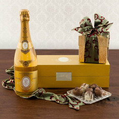 Wine Fruit Gift Baskets Cristal Champagne