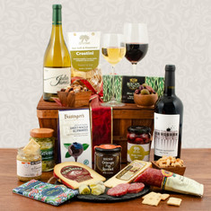 Wine Fruit Gift Basket Napa Cabernet Julia James Chardonnay Wine