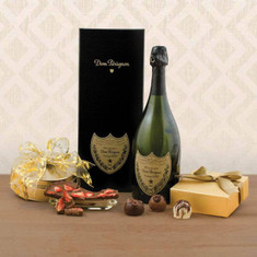 Wine Fruit Gift Baskets Dom Perignon & Truffles Gift Basket