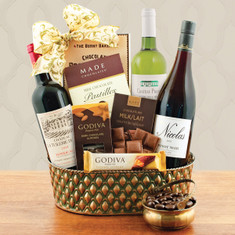 Wine Fruit Gift Baskets French Trio Wine Gift Baskets