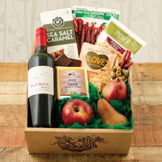 Wine Fruit Gift Baskets Fruit Cheese Merlot Wine