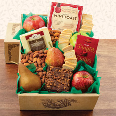 Wine Fruit Gift Baskets Fruit & Cheese Snacker's Gift Box