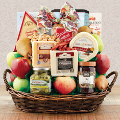 Wine Fruit Gift Baskets Fruit & Cheese Spectacular