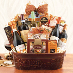 Wine Fruit Gift Basket Giant State