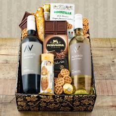 Wine Fruit Gift Baskets Italian Duo Gift Box