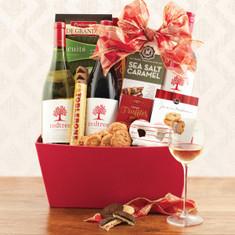 Wine Fruit Gift Baskets Joy to the World Triple Wine