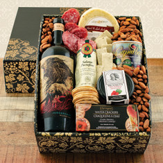 Wine Fruit Gift Basket Juggernaut Red Wine