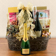 Wine Fruit Gift Baskets Krug & Dom Perignon