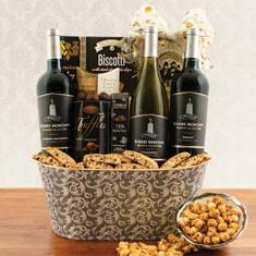 Wine Fruit Gift Baskets Mondavi Triple Wine