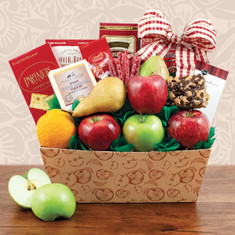 Wine Fruit Gift Baskets Nature's Bount Fruit Gift Basket