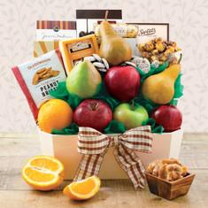 Wine Fruit Gift Baskets Orchard Fruit Gift Basket