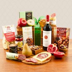 Wine Fruit Gift Baskets Ruffino Chianti Wine Fruit & Artisanal
