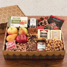 Wine Fruit Gift Baskets Showstopper Fruit & Gourmet Gift Box