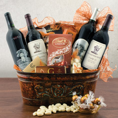 Wine Fruit Gift Baskets Stags Leap and Silver Oak Cab