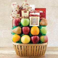 Wine Fruit Gift Baskets Talk of the Town Fruit Gift Basket