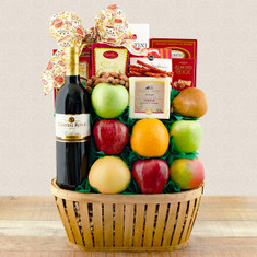 Wine Fruit Gift Baskets Talk of the Town