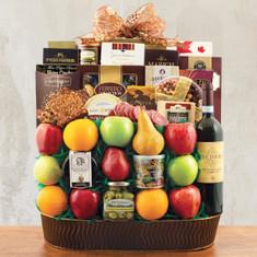 Wine Fruit Gift Baskets Trafalger Square Fruit & Wine