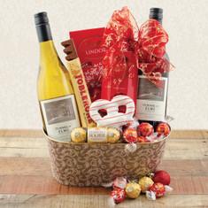 Wine Fruit Gift Baskets Yuletide Treasures